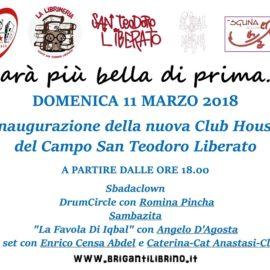 """""""Sarà più bella di prima"""": domenica 11 marzo inaugurazione della nuova Club House"""